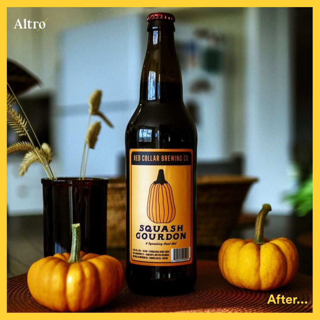 Pumpkin craft beer on thanksgiving by Altro Labels and Red Collar Brewing co.