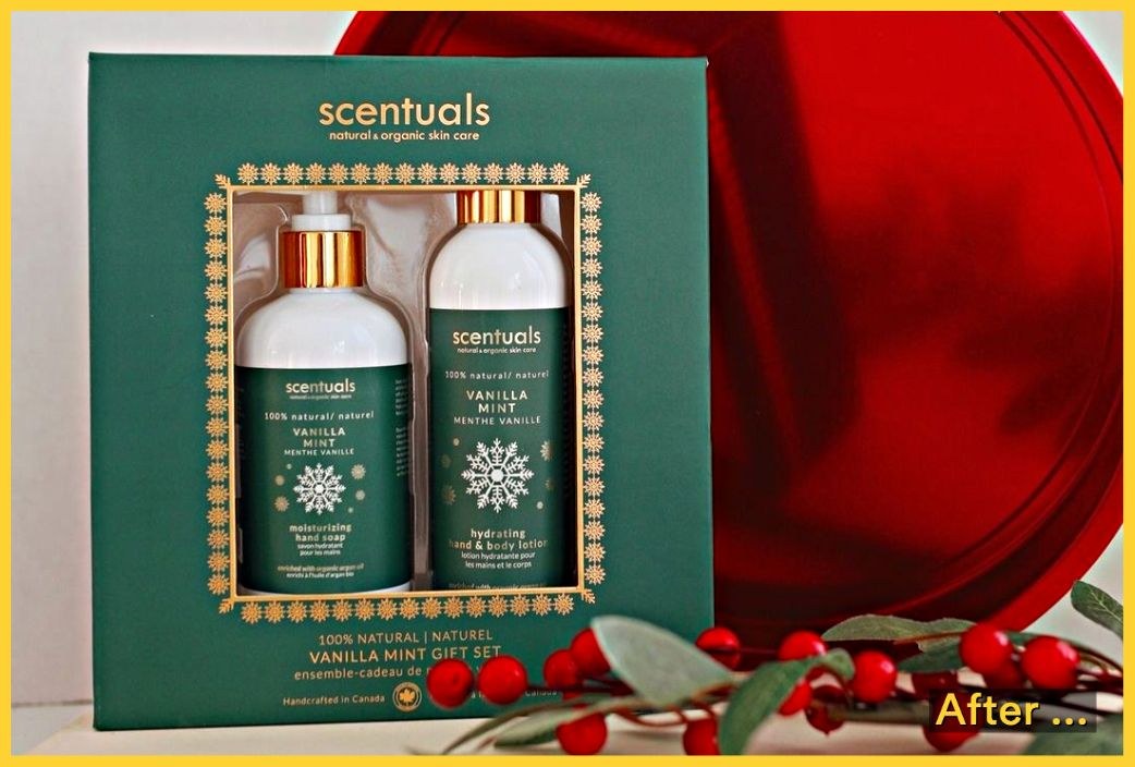 cosmetic holiday gift package, Scentuals Natural and Organic Skin Care