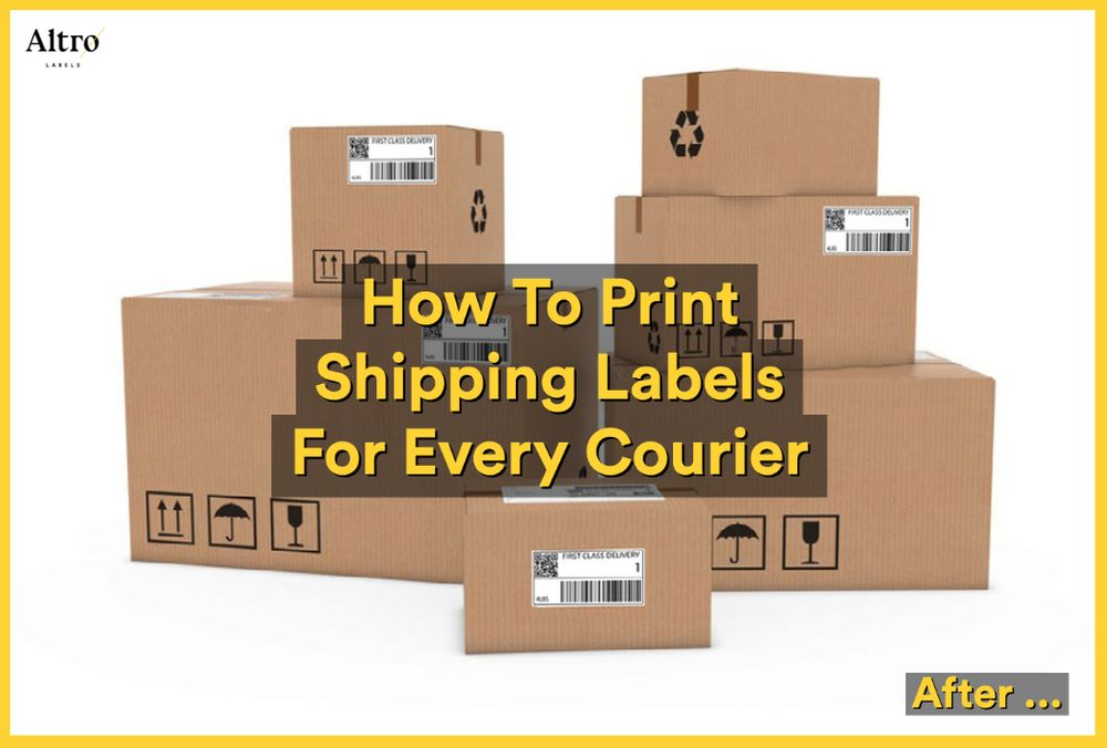 How To Print Shipping Labels For Every Courier